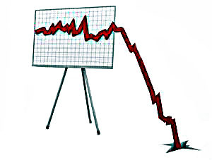 Line Graph Falling Off The Presentation